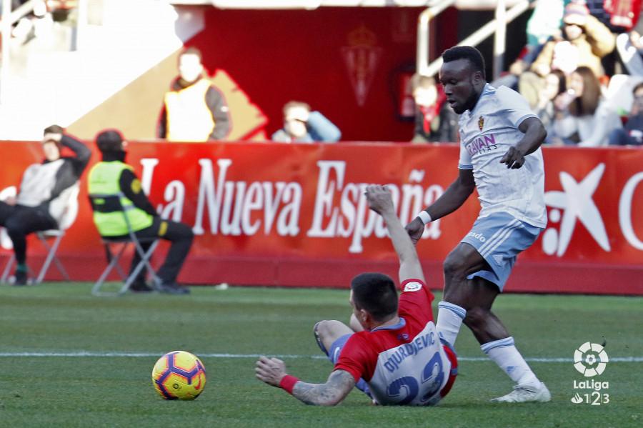 James Igbekeme, en el partido ante el Sporting (Foto: LaLiga).