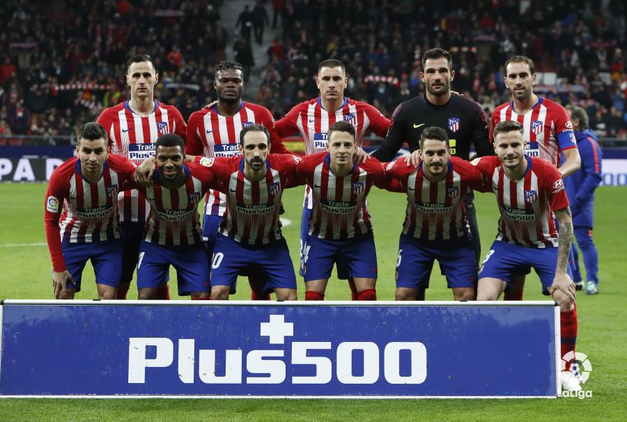 El once inicial del Atlético (Foto: LaLiga).