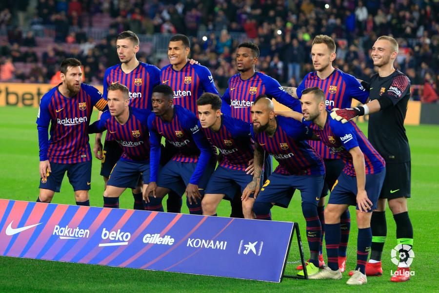 Once del Barça ante el Levante (Foto: LaLiga).