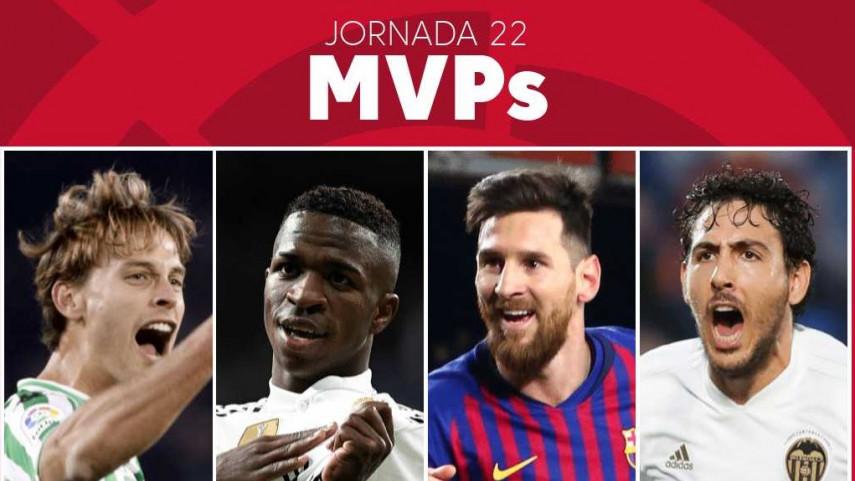Elige al MVP de la jornada 22 de LaLiga Santander