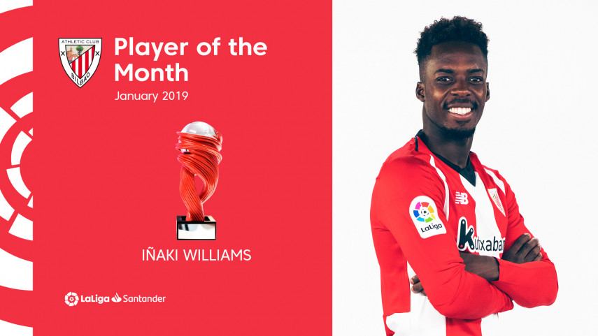 Iñaki Williams named LaLiga Santander Player of the Month for January