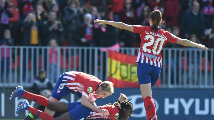 El At. Madrid Femenino logra el billete para la final de la Copa de la Reina
