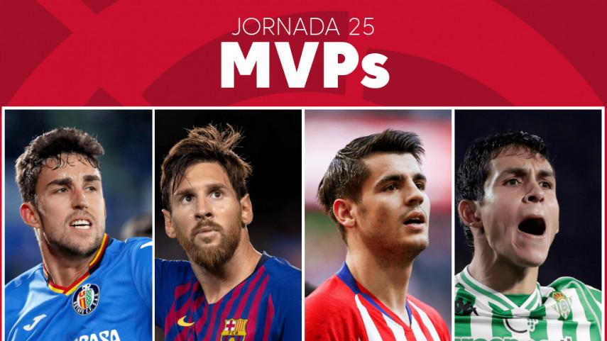Elige al MVP de la jornada 25 de LaLiga Santander