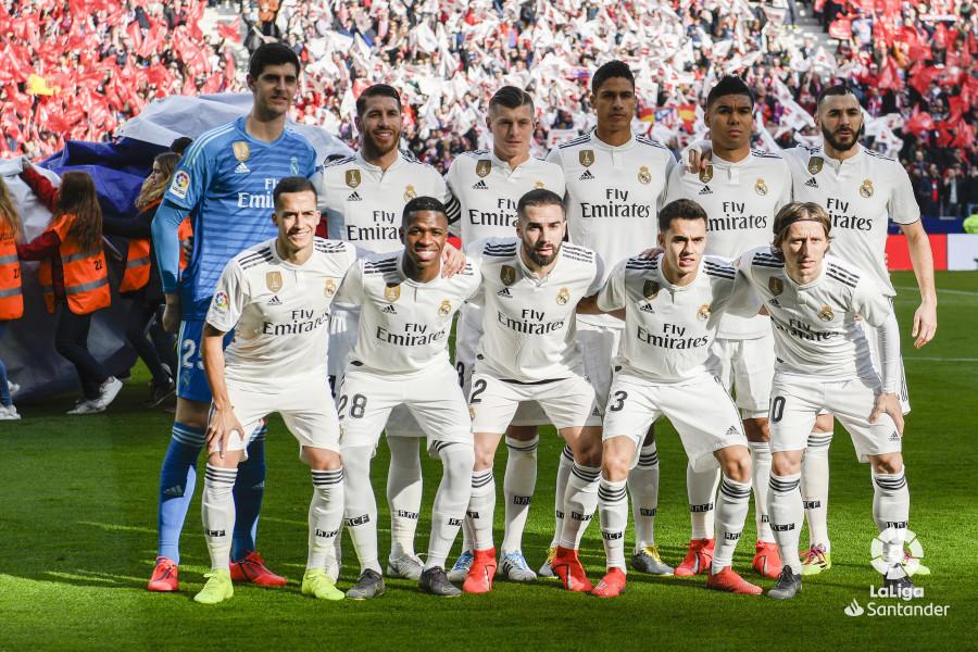 El once inicial del Real Madrid en el derbi (Foto: LaLiga Santander).