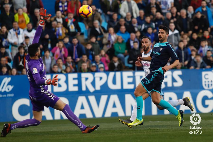 José Antonio Caro, en el partido entre el Albacete y el Zaragoza en La Romareda (Foto: LaLiga).