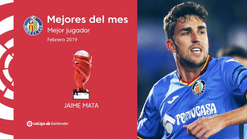 Jaime Mata, Mejor Jugador de LaLiga Santander en febrero