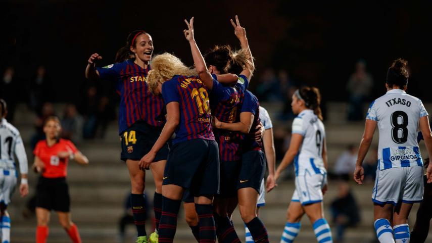 El Barcelona no echa el freno ante la Real Sociedad