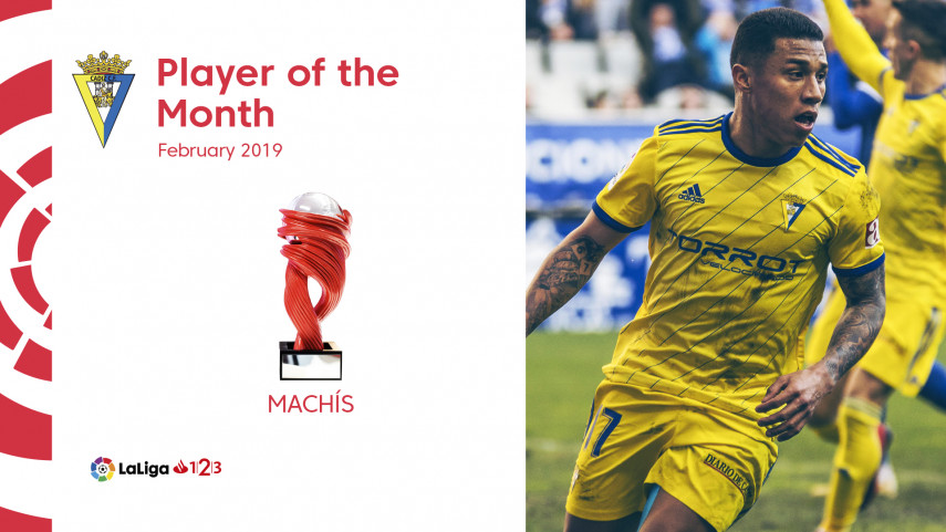 Darwin Machis, LaLiga 1|2|3 Player of the Month for February
