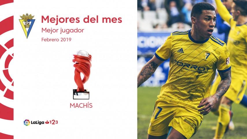 Darwin Machís, Mejor Jugador de LaLiga 1 2 3 en febrero