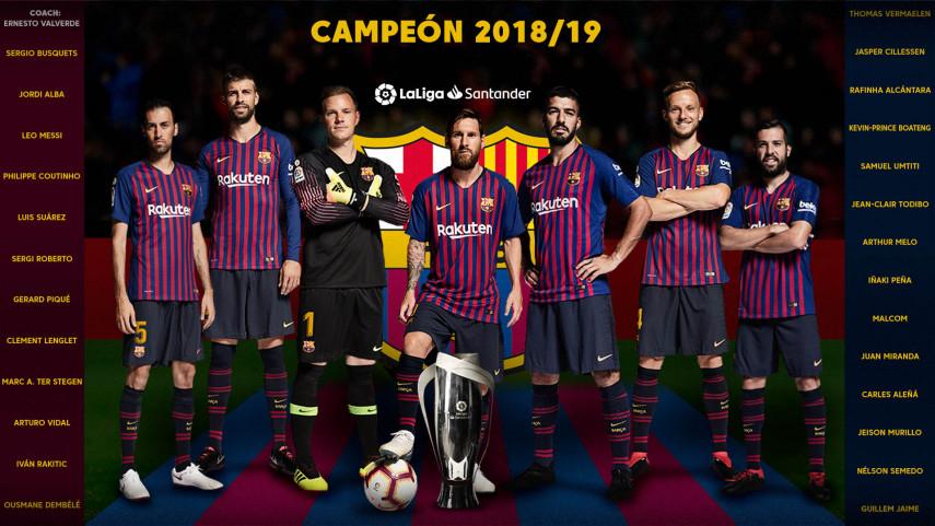 El FC Barcelona se proclama campeón de LaLiga Santander 2018/19