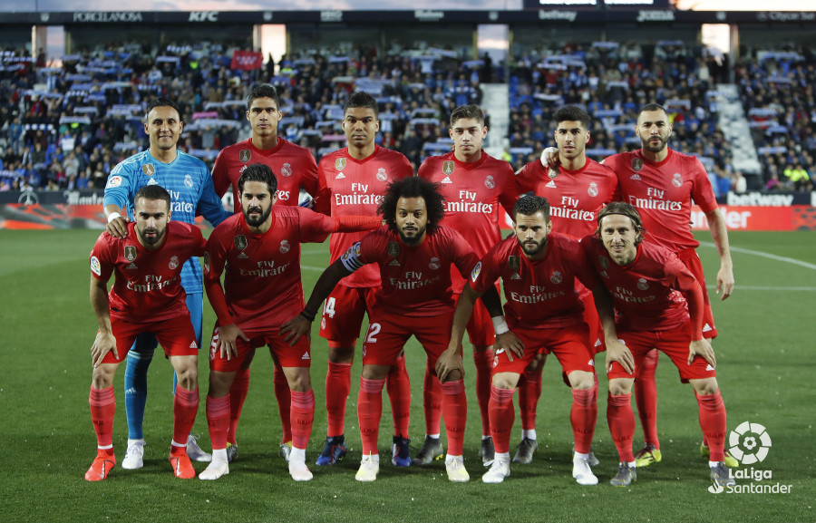 Once titular del Real Madrid.