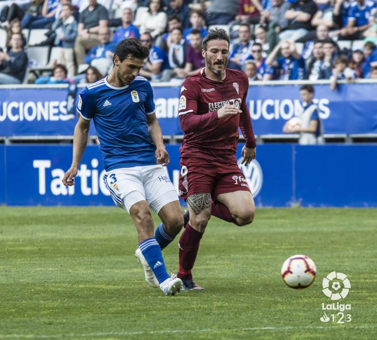 Federico Piovaccari, en el partido del Córdoba ante el Real Oviedo (Foto: LaLiga).