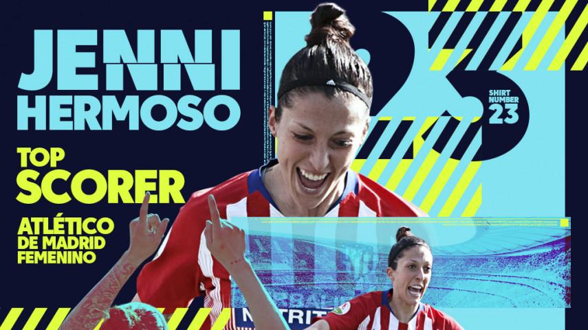 Jenni Hermoso finishes as the Liga Iberdrola top scorer 2018/2019