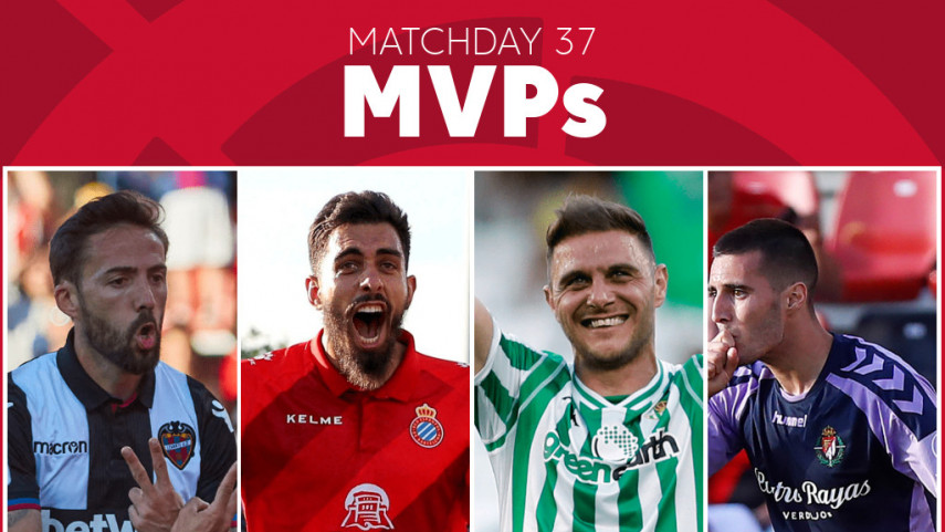 Who was the MVP of Matchday 37 in LaLiga Santander?