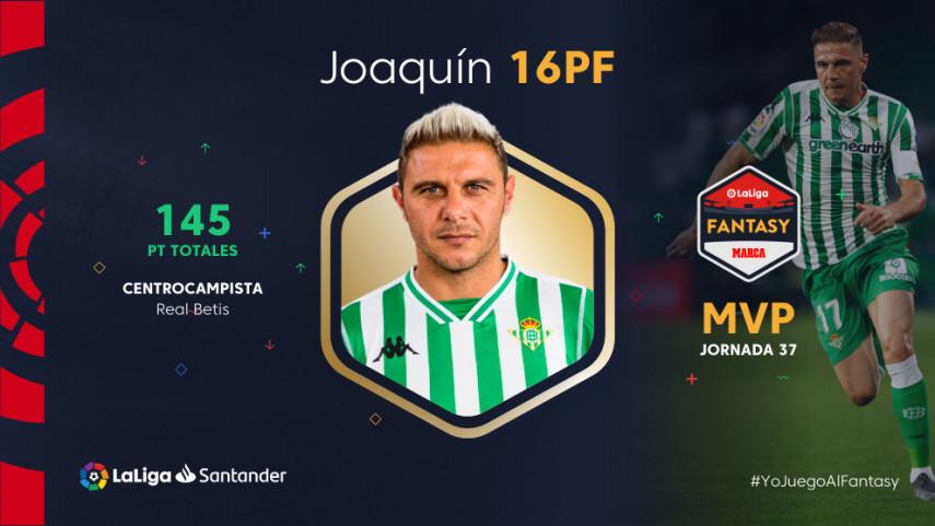 Joaquín lidera el Once Ideal de la jornada 37 de LaLiga Fantasy MARCA
