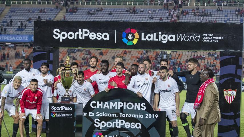 El Sevilla FC se despide de Tanzania con una disputada victoria ante el Simba SC