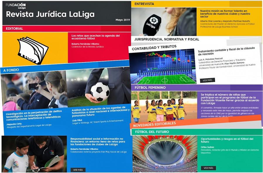 Responsabilidad social e información no financiera de las fundaciones de clubes de LaLiga, entre los temas destacados en la nueva Revista Jurídica LaLiga