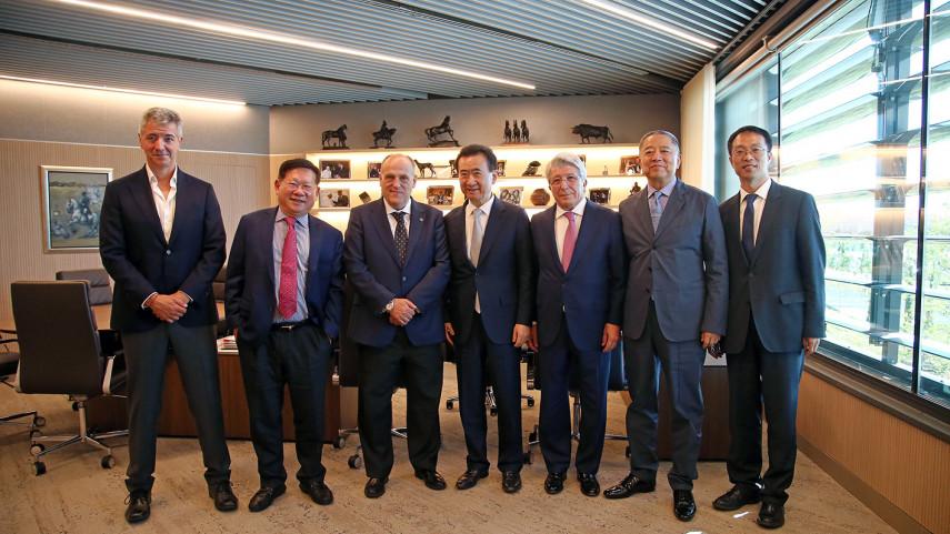 Encuentro de LaLiga con empresarios chinos en el Wanda Metropolitano