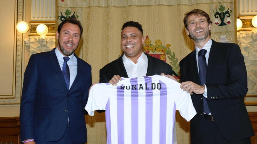 Ronaldo Nazario de Lima. Ronaldo, el día de su llegada al Real Valladolid