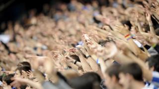 Football fans. LaLiga fans in stadium