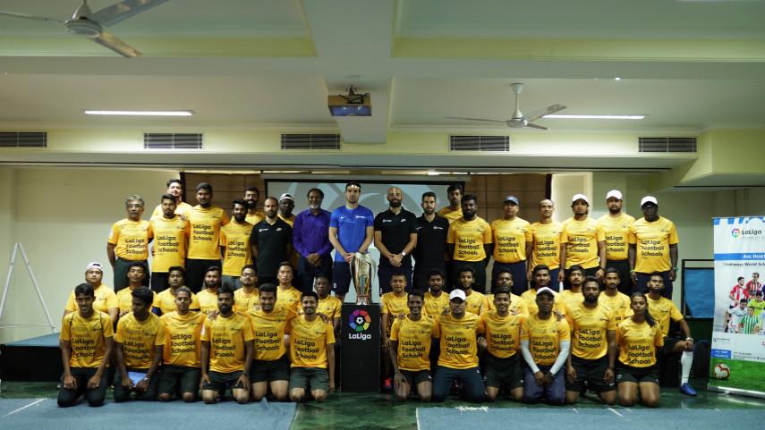 LaLiga India Coaching Event. LaLiga 'Train the Trainer' coaching event in Delhi, India