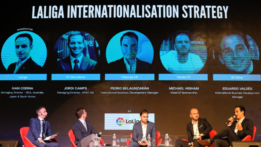 WFS Asia internationalisation panel. Internationalisation panel at World Football Summit Asia