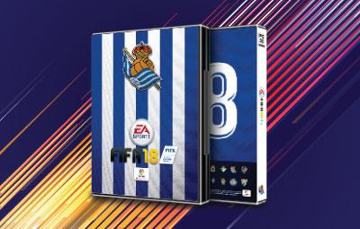 Caratula FIFA 18 Real Sociedad